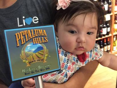 Baby on the Way IPA was brewed in honor of the birth of NorCal Beer Geeks founder Peter Lopez's daughter, Eden.